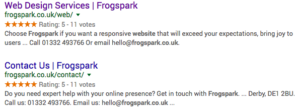 Structured Data Frogspark Digital Marketing