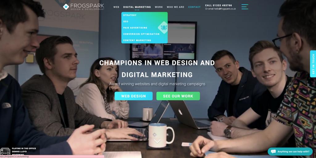 Frogspark web design