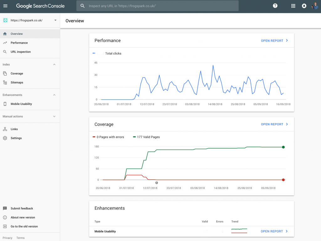 The New Search Console Dashboard