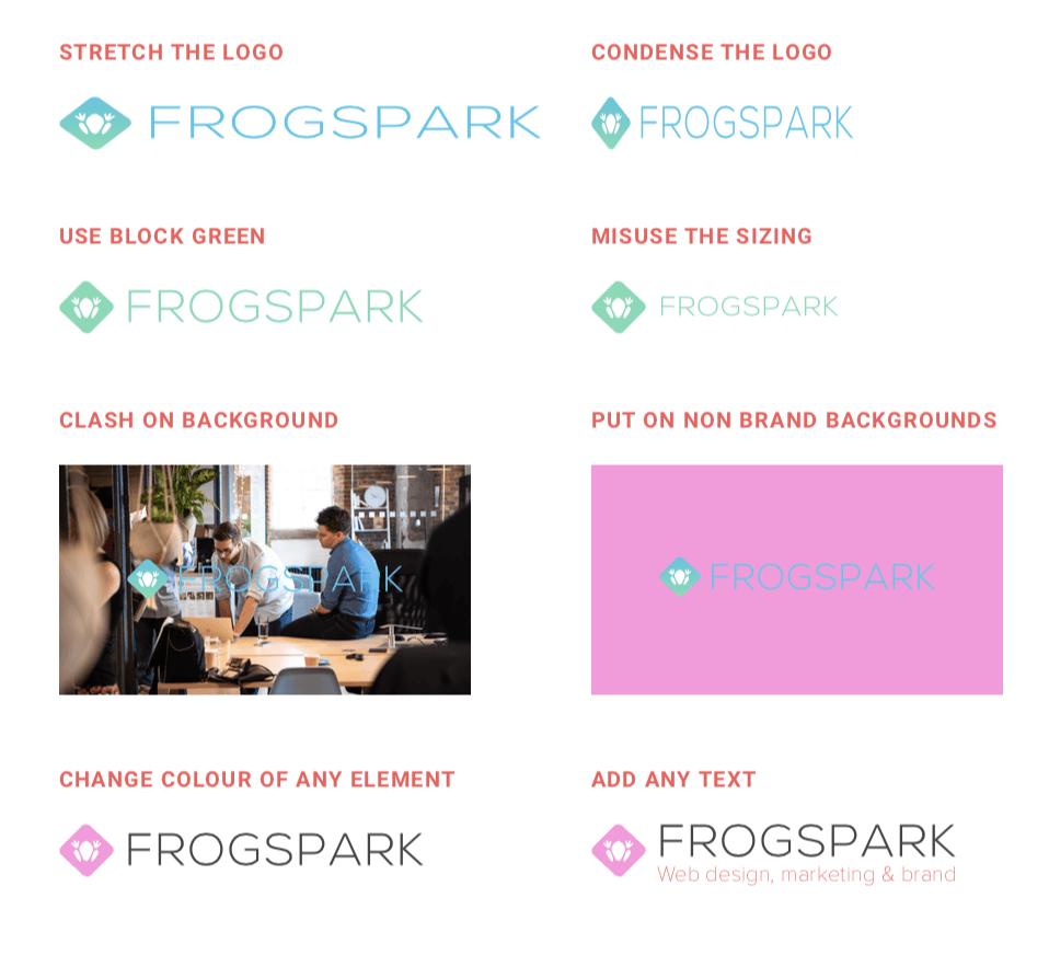 frogspark brand logo