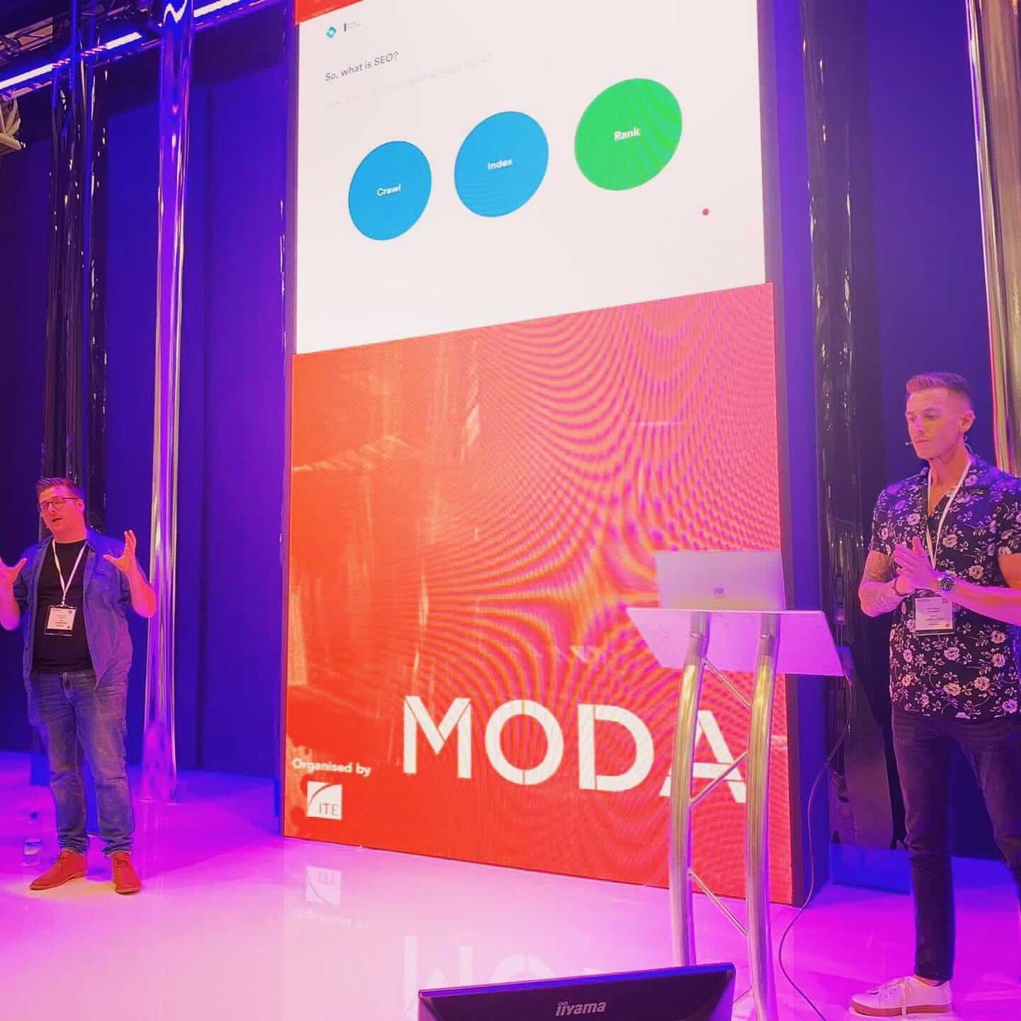 Frogspark speak at Moda, NEC Birmingham