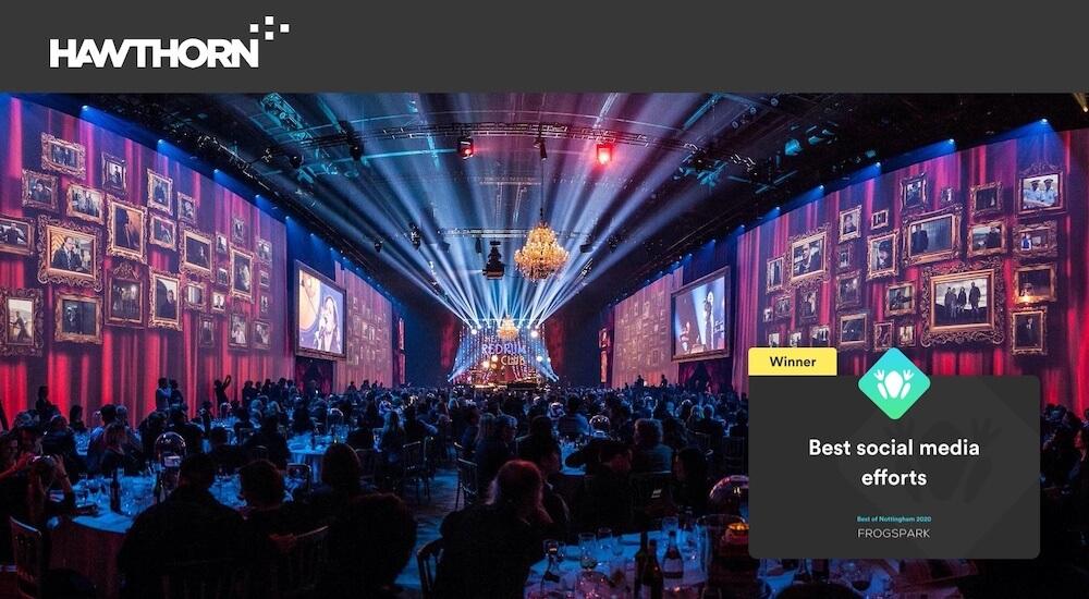 Best of Nottingham 2020 - Frogspark Award - Web Design & Marketing Agency - Hawthorn