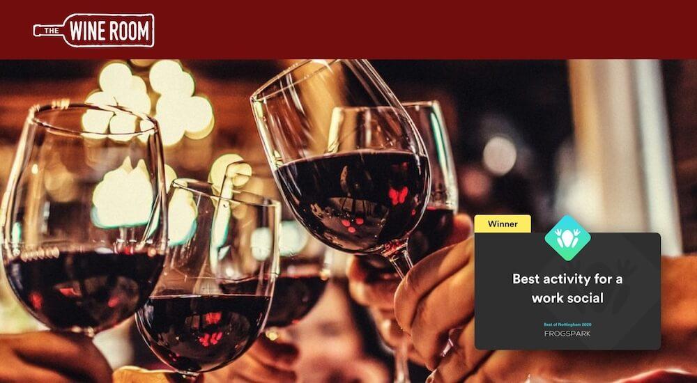 Best of Nottingham 2020 - Frogspark Award - Web Design & Marketing Agency - The Wine Room