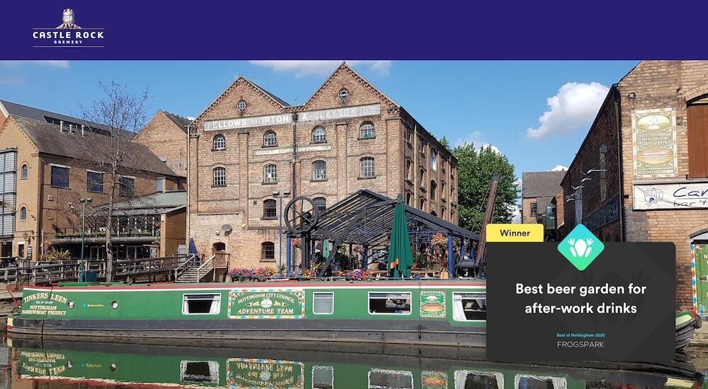 Best of Nottingham 2020 - Frogspark Award - Web Design & Marketing Agency - Canalhouse