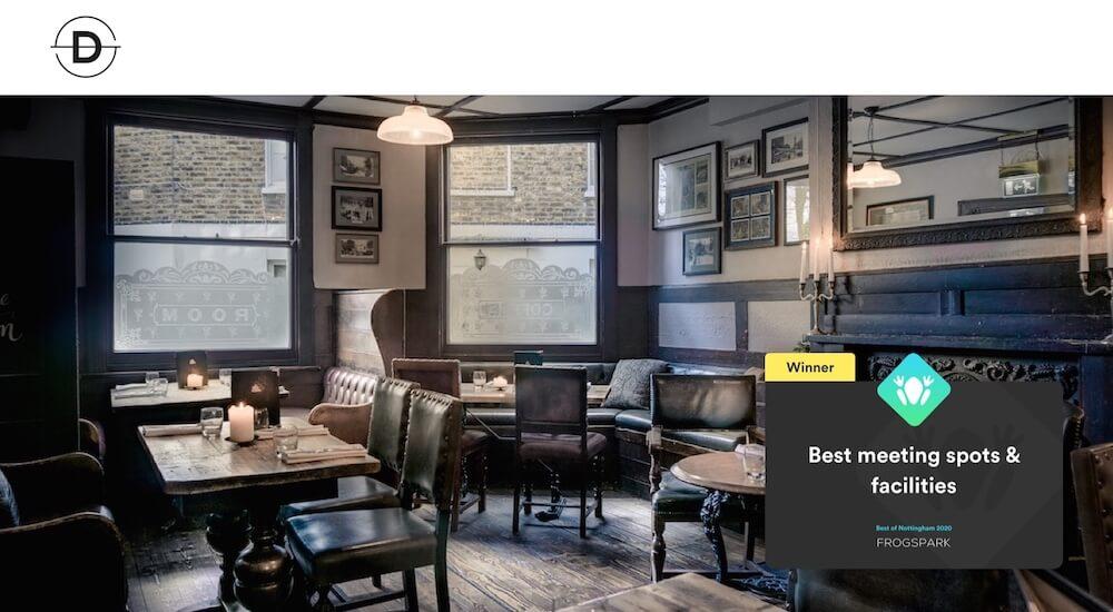 Best of Nottingham 2020 - Frogspark Award - Web Design & Marketing Agency - Dispace