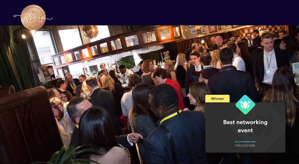 Best of Nottingham 2020 - Frogspark Award - Web Design & Marketing Agency - RSVIP