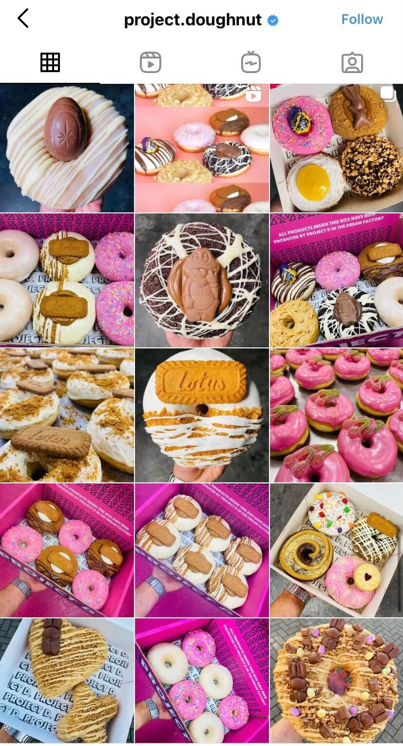 social media profile of project doughnut